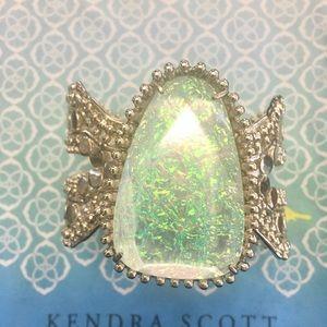 Gold Abina cuff with dichroic foil stone